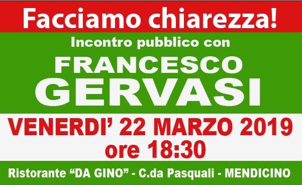 """""""Facciamo Chiarezza"""" Francesco Gervasi incontra i cittadini"""