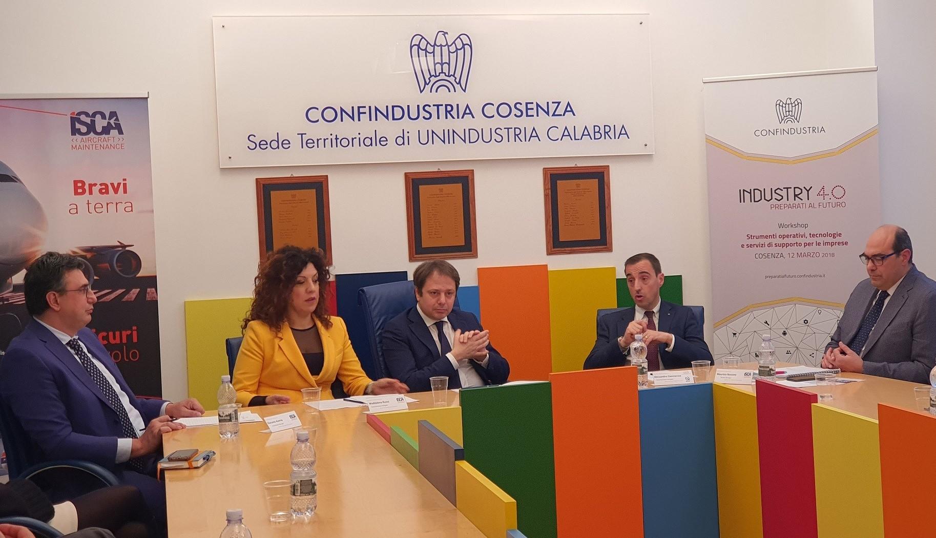 In Confindustria Cosenza presentato corso per manutentore aeronautico
