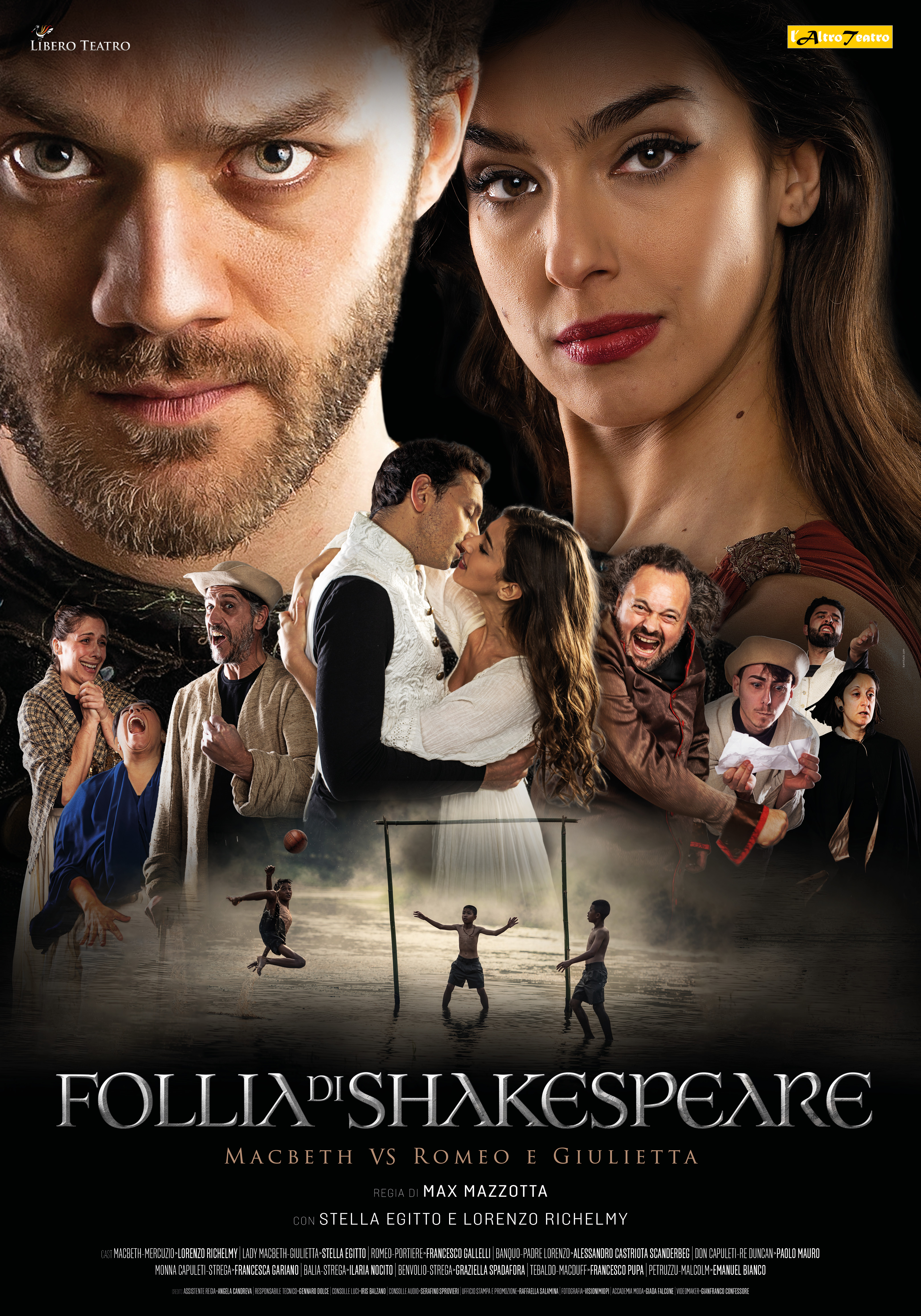 """Il 4 e 5 aprile la produzione inedita de L'AltroTeatro """"Follia di Shakespeare- Macbeth vs Romeo e Giulietta"""""""