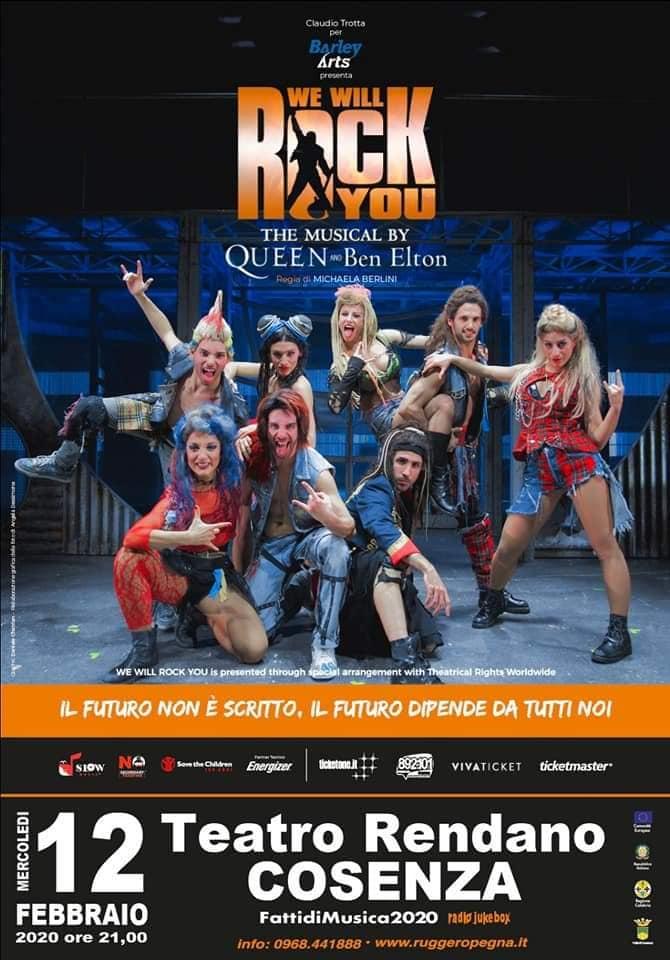 """""""We will rock you"""" mercoledì al Teatro Rendano di Cosenza"""