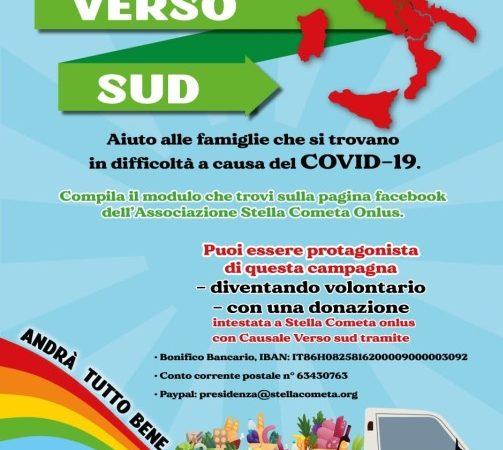 VersoSud, campagna di solidarietà per le famiglie calabresi messe in ginocchio dall'emergenza COVID-19