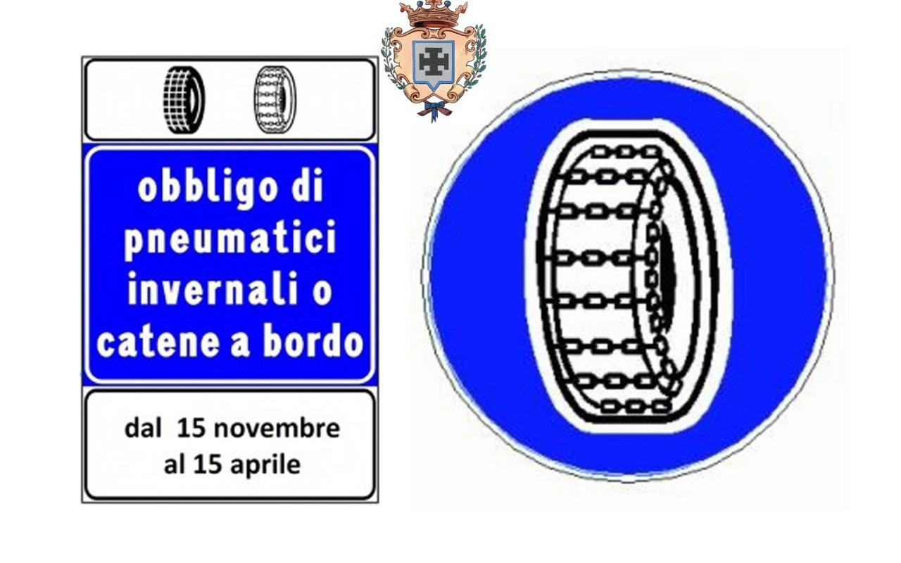 Strade Provinciali, dal 15 novembre obbligo di catene a bordo o pneumatici da neve