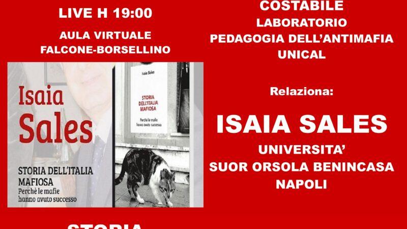 Unical, Isaia Sales incontra gli studenti di Pedagogia dell'Antimafia