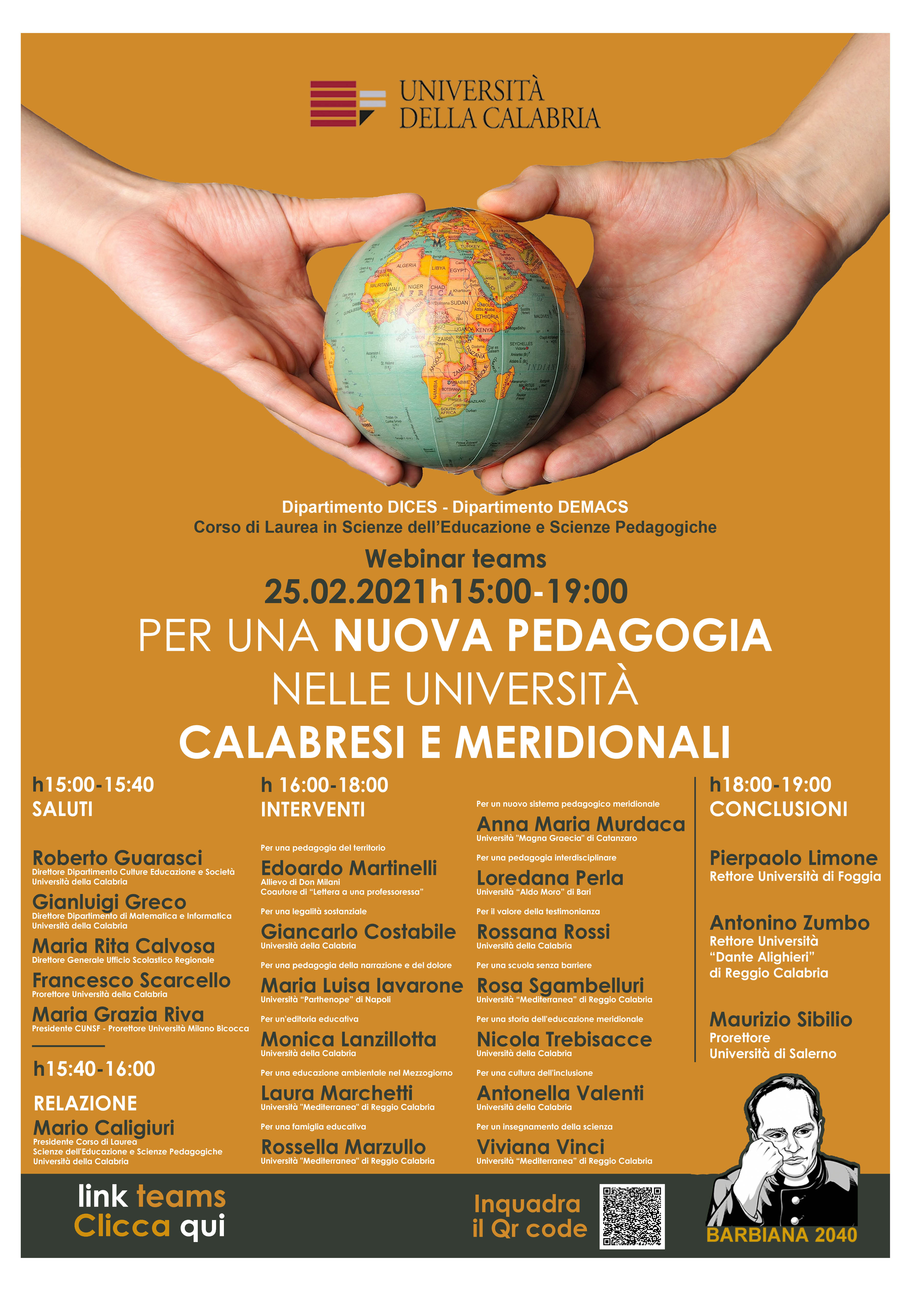 Unical, accademici di tutto il Mezzogiorno a confronto sulla necessità di una nuova pedagogia nelle università