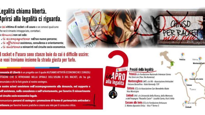Economie di Libertà, una rete di legalità contro l'usura e il racket che coinvolge Calabria e Basilicata