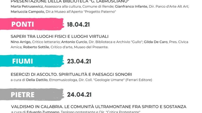 """Biblioteca delle comunità """"Gianfranco Labrosciano"""": quattro incontri online per parlare di arti e territorio"""
