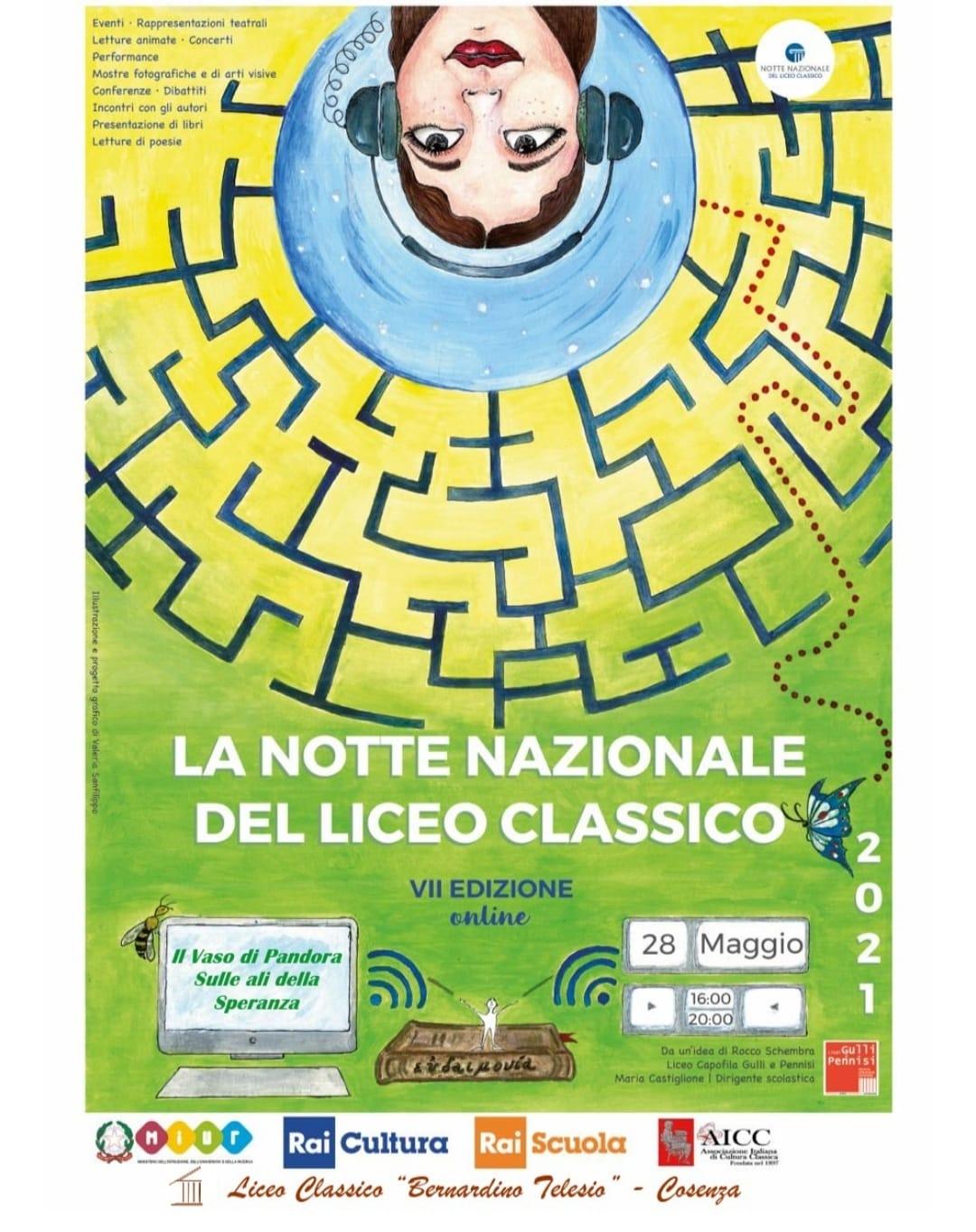 """Il Liceo """"Telesio"""" di Cosenza parteciperà alla Notte Nazionale del Liceo Classico"""