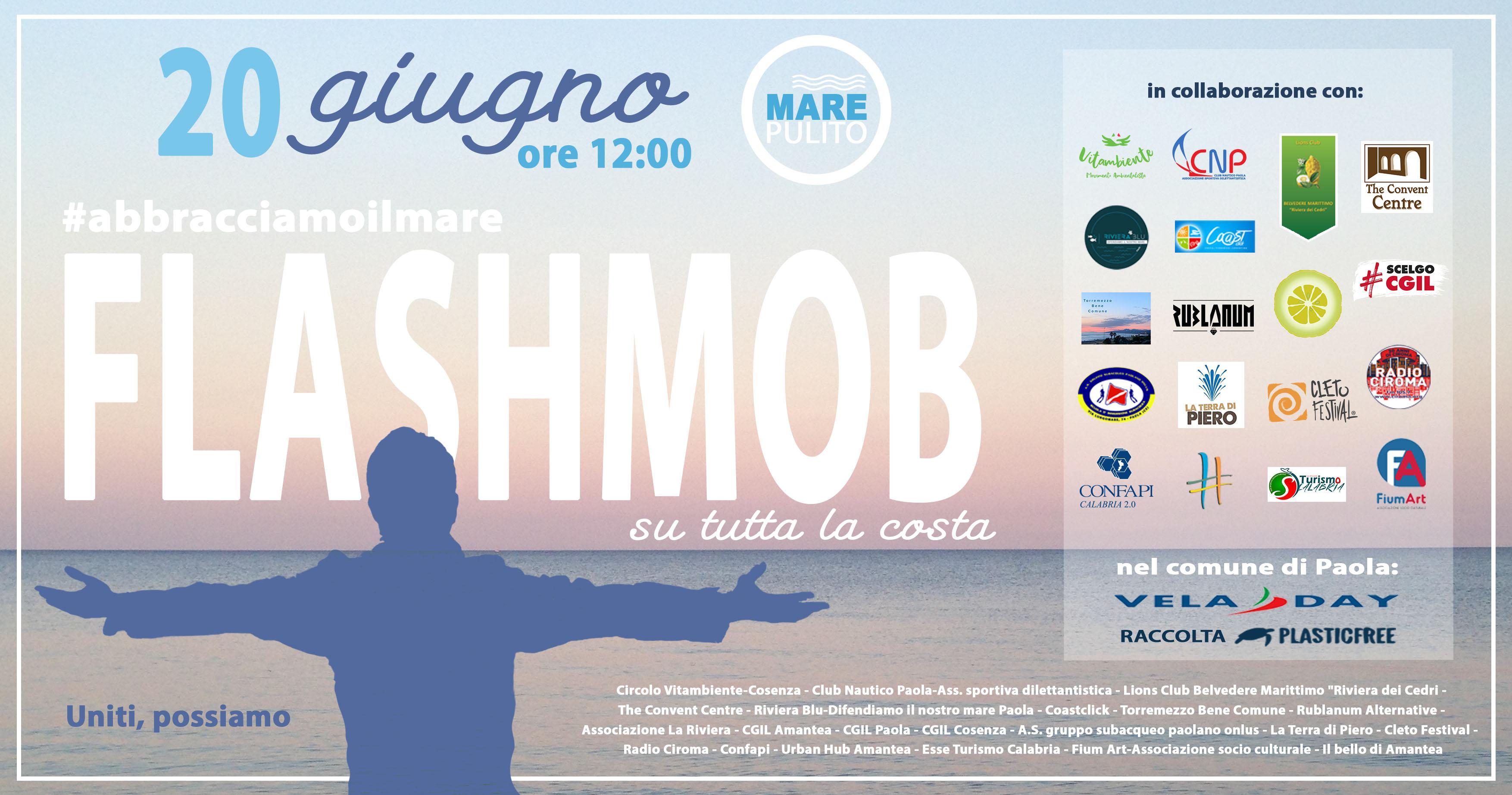 #abbracciamoilmare, il primo flash mob organizzato dall'Associazione Mare Pulito