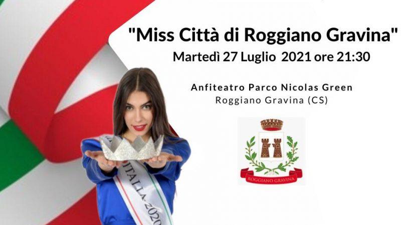 Miss Italia Calabria continua…il 27 luglio con l'elezione di Miss Città di Roggiano Gravina