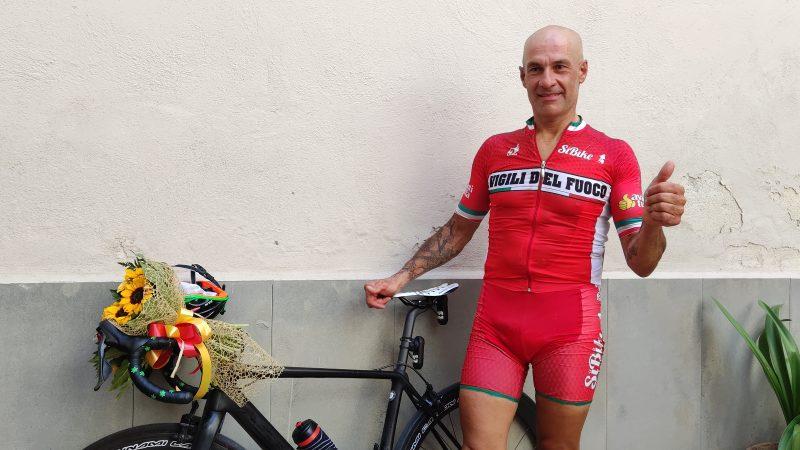 Silvio Giovane in 24 ore da Perugia a San Marco in bicicletta, impresa riuscita