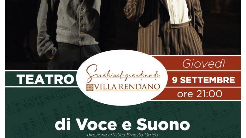 Teatro nel giardino di Villa Rendano, giovedì 9 settembre di Voce e Suono