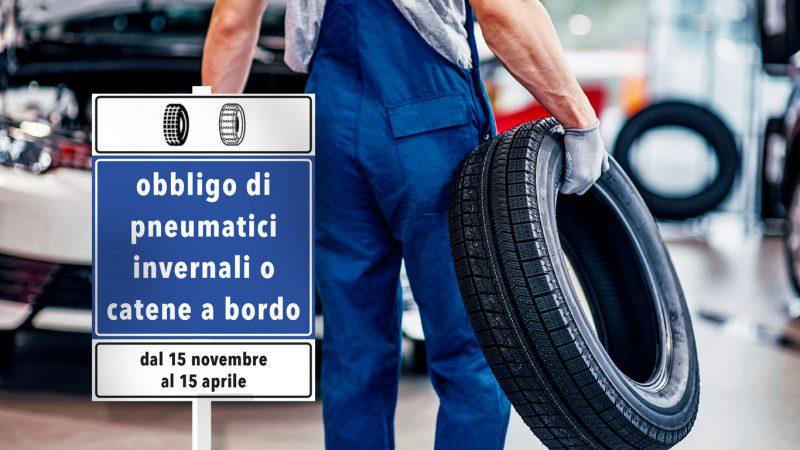 Dal 15 novembre torna l'obbligo, sulle strade provinciali, di montare  pneumatici termici